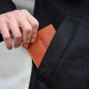 Удобный темно-оранжевый мужской бумажник BRL-7593 233771