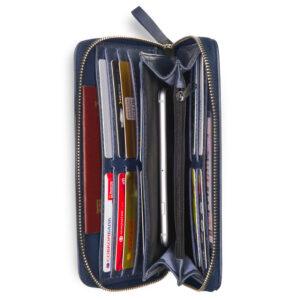 Кожаная синяя мужская сумка для мобильного телефона BRL-19827 234413