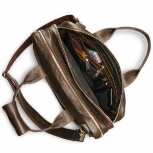 Солидная коричневая мужская сумка BRL-12973 234127