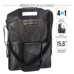Неповторимый черный мужской рюкзак трансформер BRL-28432