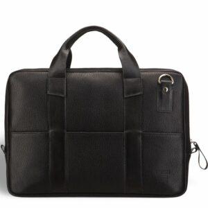 Кожаная черная мужская сумка BRL-9547 233859