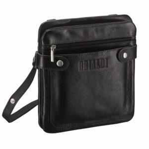 Уникальная черная мужская сумка через плечо BRL-263