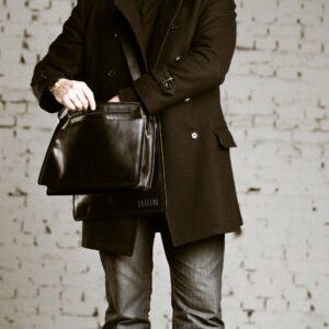 Неповторимая черная мужская сумка BRL-949 233490