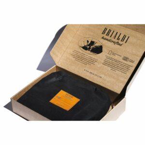 Кожаная черная мужская сумка мессенджер BRL-19879 234659