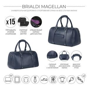 Удобная синяя сумка спортивная BRL-23332 235157