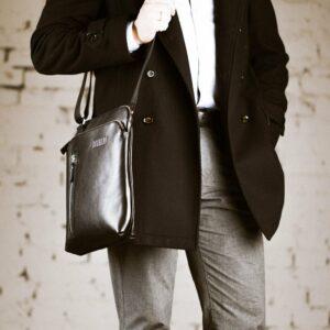 Функциональная черная мужская сумка через плечо BRL-1518 233550