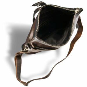 Функциональная коричневая мужская сумка через плечо BRL-3517 233692
