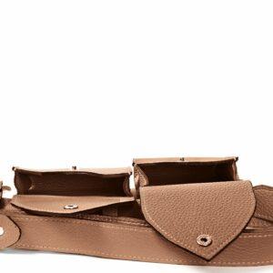 Вместительная темно-оранжевая женская поясная сумка FBR-2454 236558