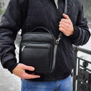 Уникальная черная мужская сумка для документов BRL-12934 234062