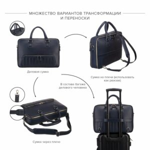 Модная синяя мужская сумка трансформер BRL-23168 235082