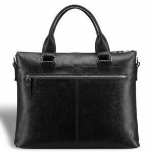Кожаная черная мужская сумка BRL-17805 234372