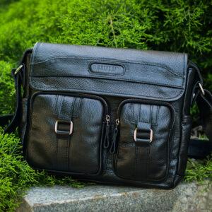 Удобная черная мужская сумка для документов BRL-12995 234193