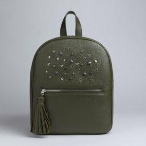 Уникальный желтовато-зелёный женский рюкзак FBR-1163