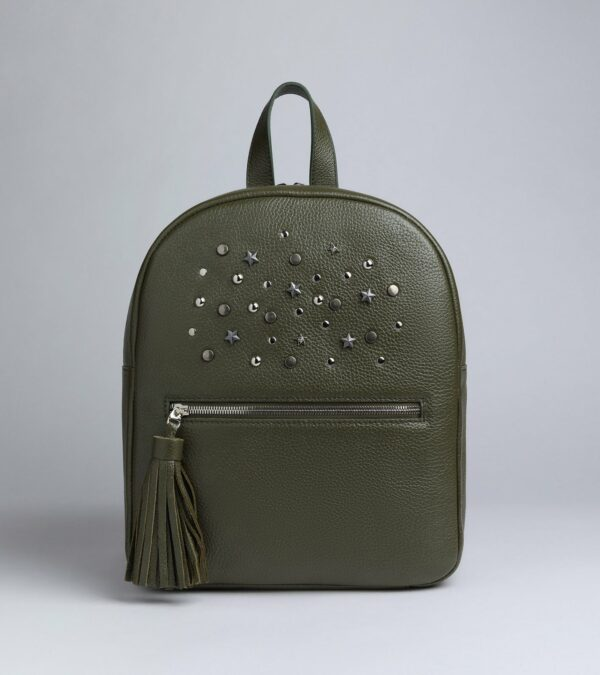 Стильный желтовато-зелёный женский рюкзак FBR-1163