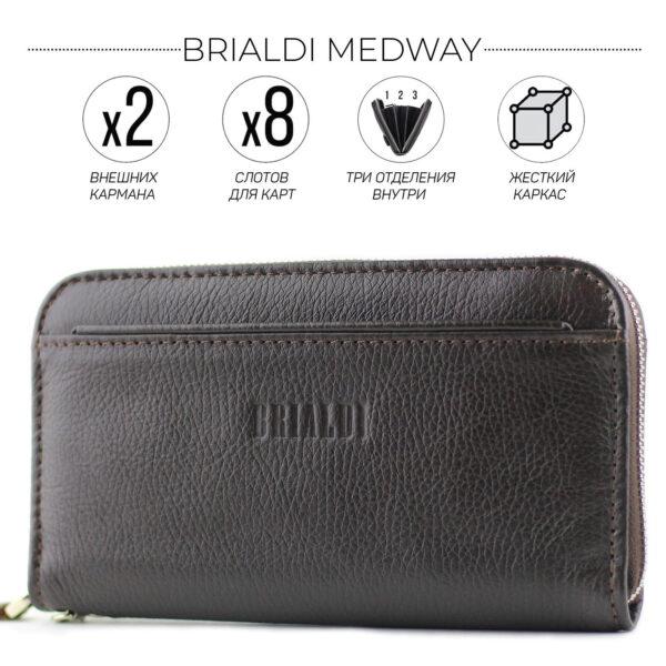 Деловой коричневый мужской кожаный кошелек BRL-28537