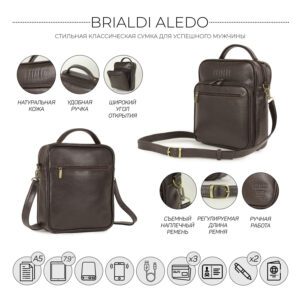 Солидный коричневый мужской планшет BRL-12937 234089