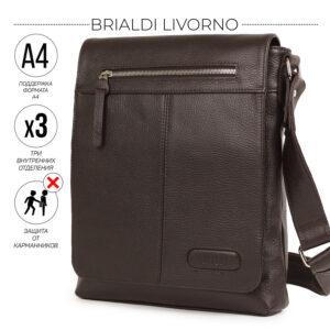 Неповторимая коричневая мужская сумка для документов BRL-11724