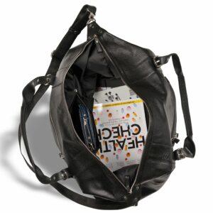 Кожаная черная мужская сумка BRL-11874 233911