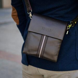 Неповторимая коричневая мужская сумка BRL-19864 234516