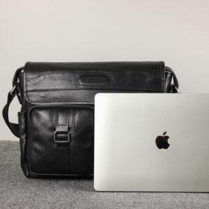 Удобная черная мужская сумка для документов BRL-12995 234178