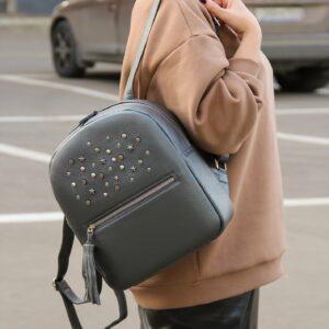 Деловой серый женский рюкзак FBR-1171