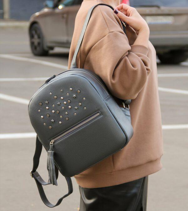 Модный серый женский рюкзак FBR-1171
