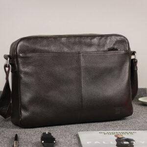Вместительная коричневая мужская сумка через плечо BRL-19858 234509