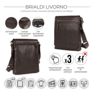 Неповторимая коричневая мужская сумка для документов BRL-11724 233865