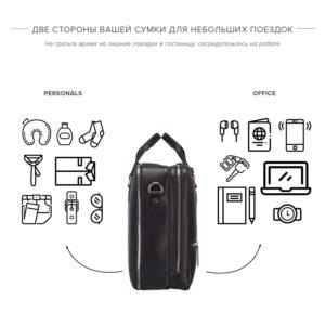 Уникальная черная мужская сумка BRL-23116 234821