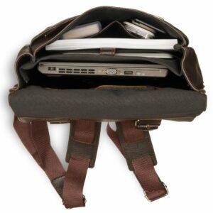 Удобный коричневый мужской рюкзак для ручной клади BRL-17457 234316