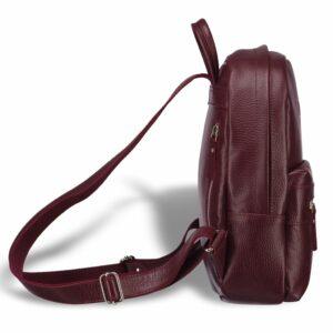 Солидный бордовый женский городской рюкзак BRL-17482 234328