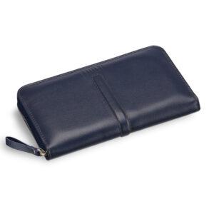 Кожаная синяя мужская сумка для мобильного телефона BRL-19827 234409