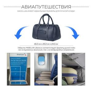 Удобная синяя сумка спортивная BRL-23332 235357