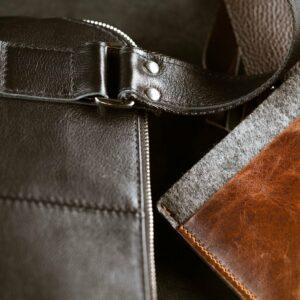 Функциональная черная мужская сумка через плечо BRL-1518 233545