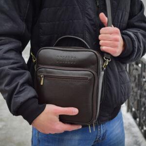 Солидный коричневый мужской планшет BRL-12937 234092