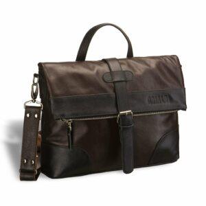 Функциональная коричневая мужская сумка через плечо BRL-3517