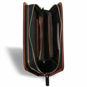 Стильный черный мужской кожаный кошелек BRL-7600 233797