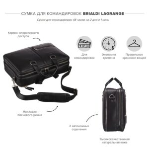 Уникальная черная мужская сумка BRL-23116