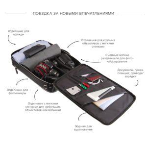 Удобная черная дорожная сумка портфель BRL-23144 235012