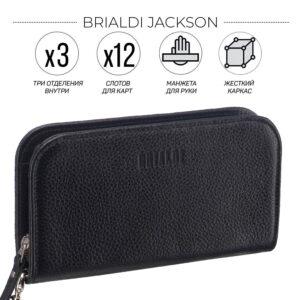 Модный черный мужской кожаный кошелек BRL-26738