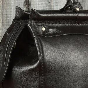 Кожаная черная мужская сумка BRL-149 233339