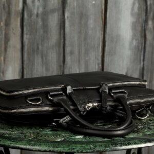 Функциональная черная мужская сумка для документов BRL-779 233440