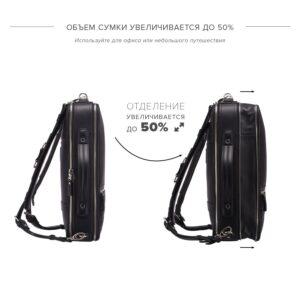 Удобная черная дорожная сумка портфель BRL-23144 234901