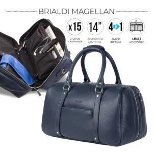 Удобная синяя сумка спортивная BRL-23332