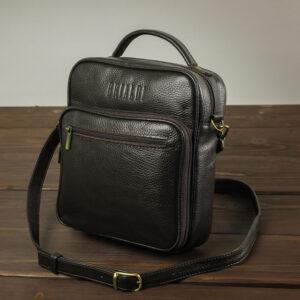Солидный коричневый мужской планшет BRL-12937 234121