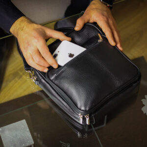 Уникальная черная мужская сумка для документов BRL-12934 234079