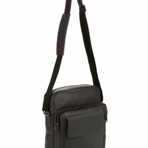 Кожаная серая мужская сумка через плечо FBR-1720 235845