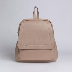Кожаный бежевый женский рюкзак FBR-2887