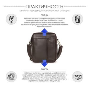 Удобная коричневая мужская сумка BRL-19878 234625