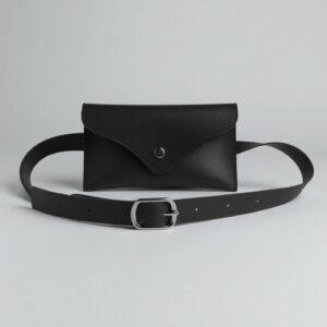 Кожаная черная женская сумка FBR-2655